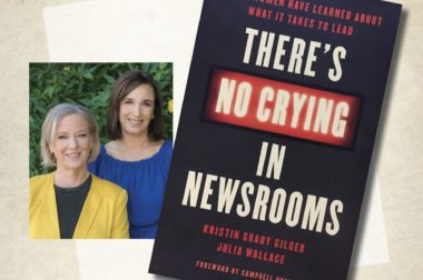 "Announcing the November News Book Club read: ""There's No Crying in Newsrooms"""