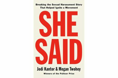 "The February News Book Club pick is ""She Said"""